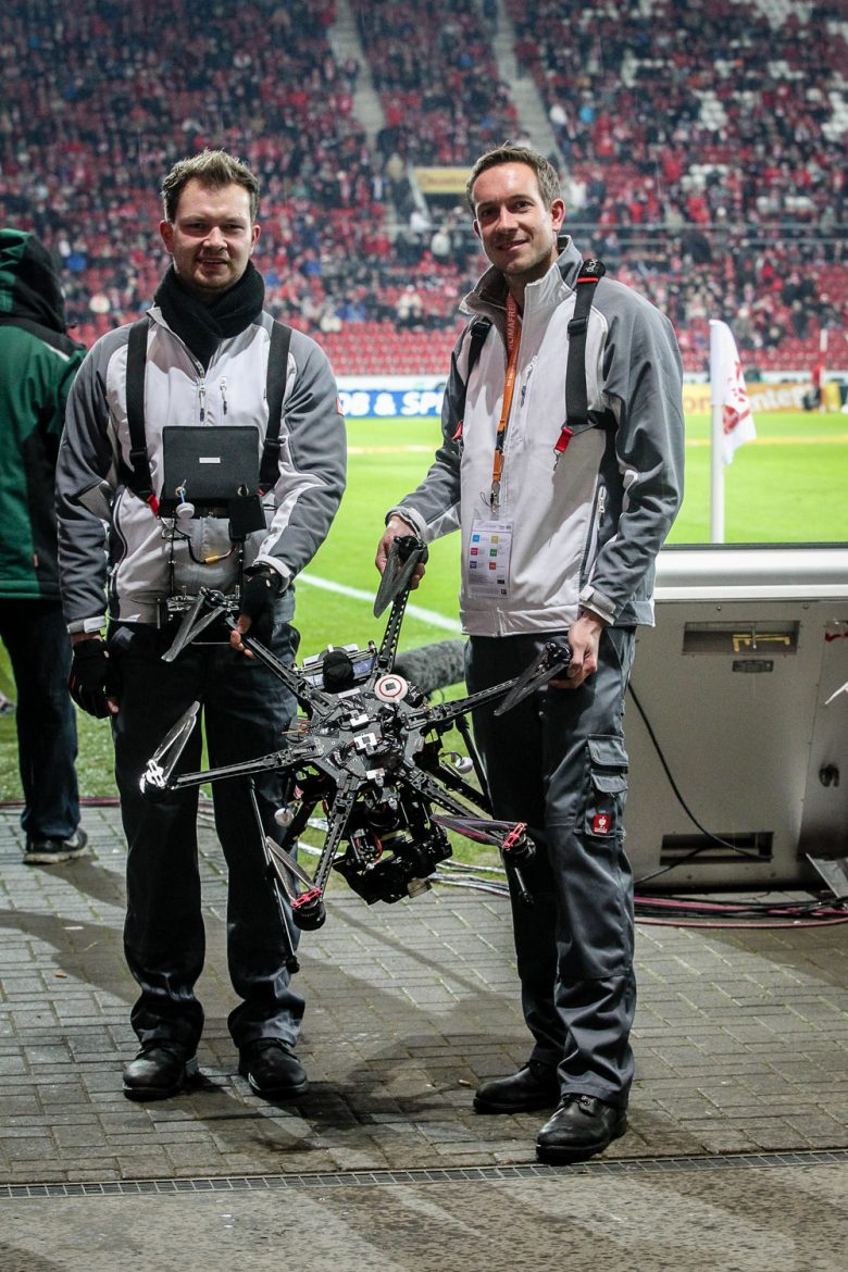 The Skynamic Drone at Mainz 05 soccer Game